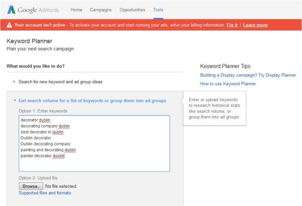 Keyword Research Tips - Keyword Planner image