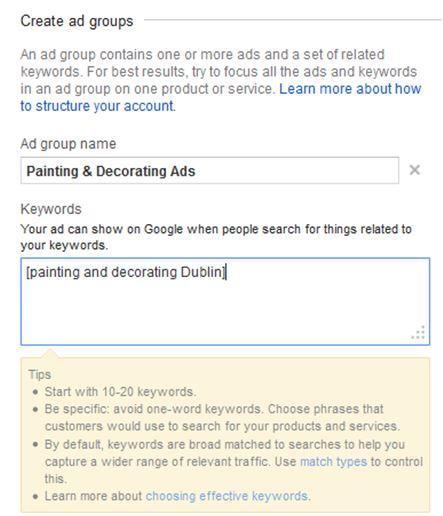 How to create Google Ads - AdGroups