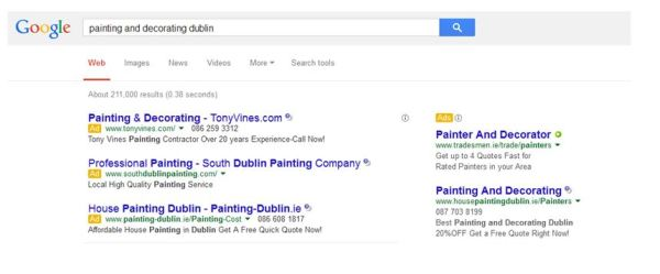 How to create Google Ads - Google search ads for painters and decorators